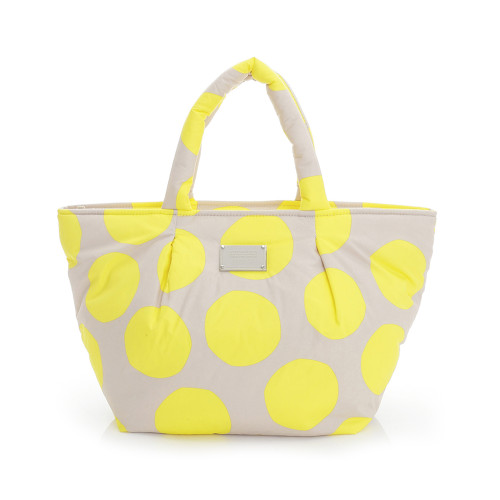 Pleat Tote - POP DOT Beige Yellow
