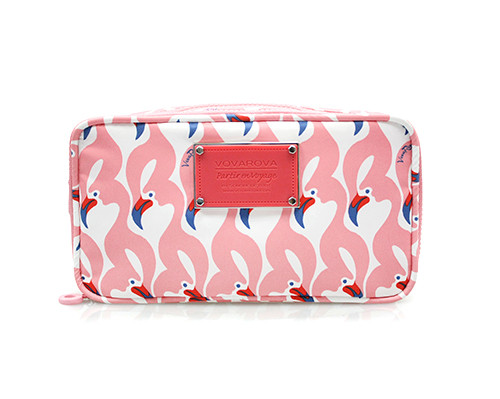 Compact Brush Case - FLAMINGO