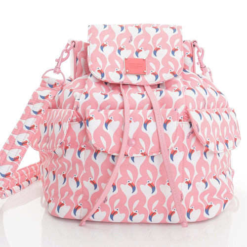 2 way Drawstring Hobo Bag - FLAMINGO