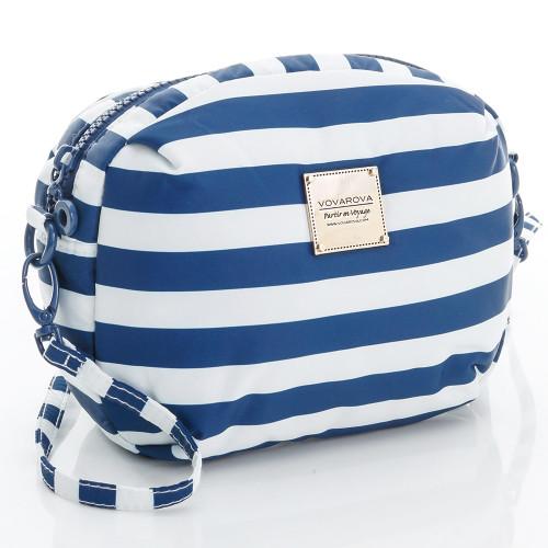 Mini Sling Bag - STRIPE Navy White