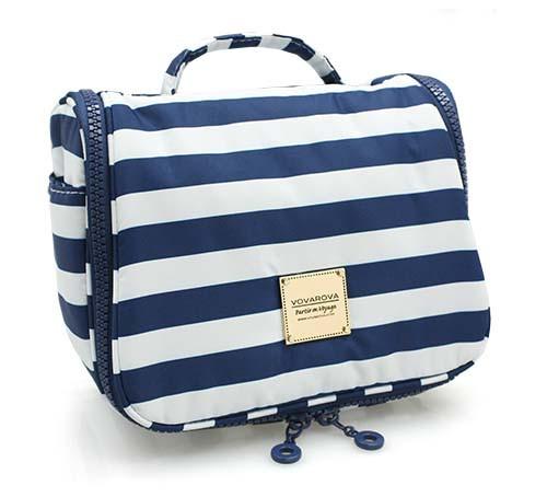 Travel Toiletry Bag - STRIPE Navy White
