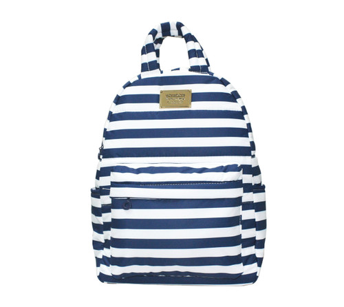Backpack Medium - STRIPE Navy White