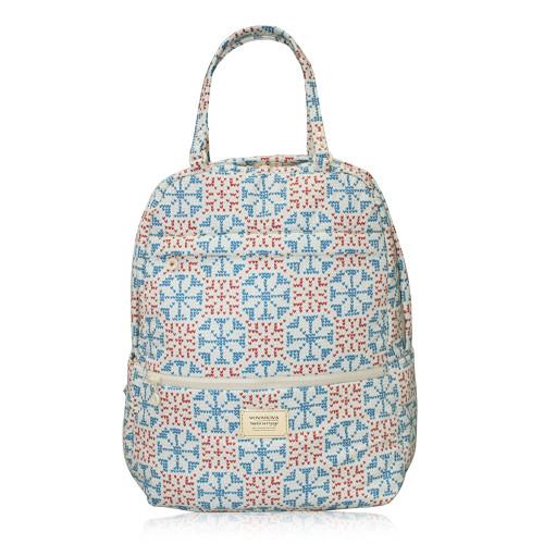 Double Handle Backpack - Nordic tale - Beige