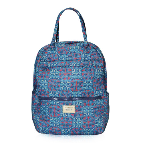 Double Handle Backpack - Nordic Tale - Blue