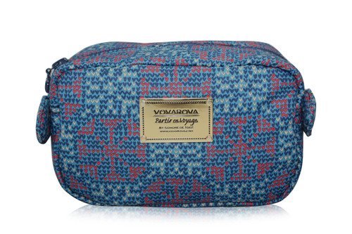 Travel Cosmetics Pouch With Ribbon - Nordic tale - Blue
