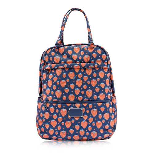 Double Handle Backpack -  Strawberry