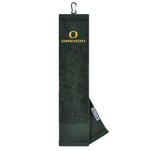 """Oregon Ducks 16"""" x 24"""" Face & Club Tri-Fold Towel"""