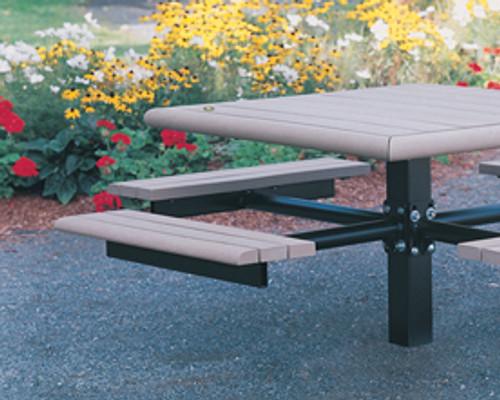 Square Public Place Picnic Table - Single Support