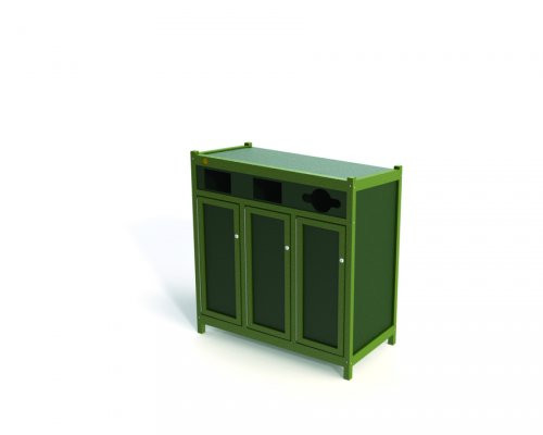 Triple Recycling Unit Station with Avantage+ slats