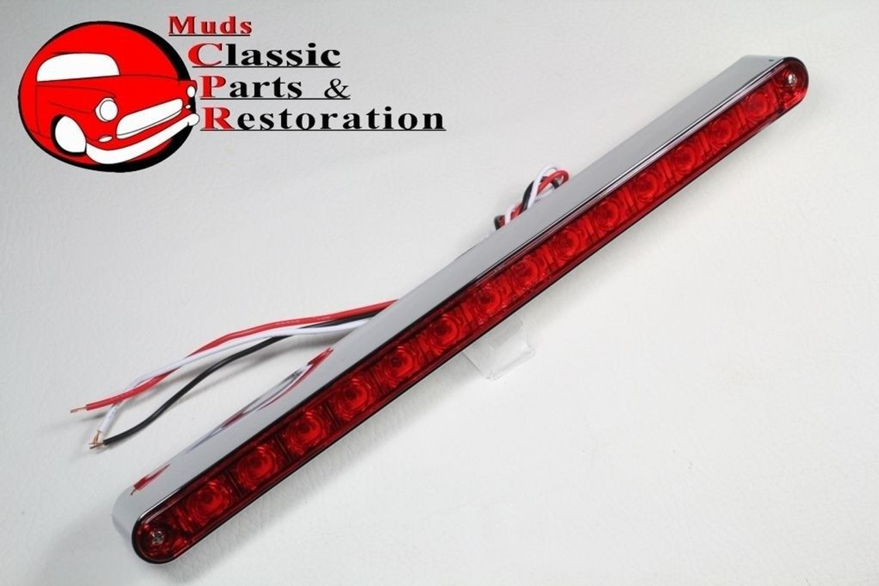 Stainless bezel red led stop turn tail light bar custom truck hot stainless bezel red led stop turn tail light bar custom truck hot rat rod 12 aloadofball Images
