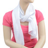12pc Prepack Solid Polyester Satin Scarf SPS1301