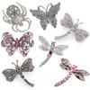 24pc. Randomly Assorted Brooches - IMBCBR24ASST