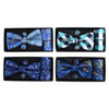 12pc PrePack Assorted Banded Bow Tie, Matching Hanky & Cufflinks