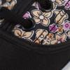 12pcs Women's Black Floral Canvas Flat Casual Shoes Sneakers SH1100-BLACK