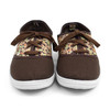 12pcs Women's Brown Floral Canvas Flat Casual Shoes Sneakers SH1100-BROWN