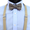 Boy's Tan Clip-on Suspender & Striped Bow Tie Set(4~7 Years)