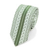 """Olive Microfiber Poly Woven 2.25"""" Slim Panel Tie MPPW1622"""