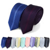 "Dotted Microfiber Poly Woven 2.25"" Slim Panel Tie MPPW1613"