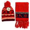 Kid's Winter Knitted Snowflake Reindeer Pom Beanie Scarf with Tassel  and Hat Set - KKWS1720