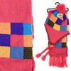 Kid's Winter Knitted Ear Flap Lined Pom Beanie Scarf with Tassel and Hat Set - KKWS1723