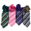 Stiped Tie & Matching Pocket Round Set MPWTH170628