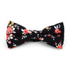 3pc Floral Wedding Cotton Banded Bow Tie - NFCB17133