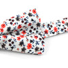 3pc Floral Wedding Cotton Banded Bow Tie - NFCB17134