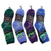 4-Packs (12 Pairs) Women's Abstract Landscape Novelty Socks 3PKSWCS-696