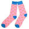 12pairs Men's Strawberry Doughnut Novelty Socks NVS1788-PK
