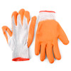 12 Pack Working Gloves with Rubber Palm Coated - Orange - WGL1712