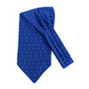 Polka Dots Microfiber Poly Woven Ascot With Hooks - PPA1710