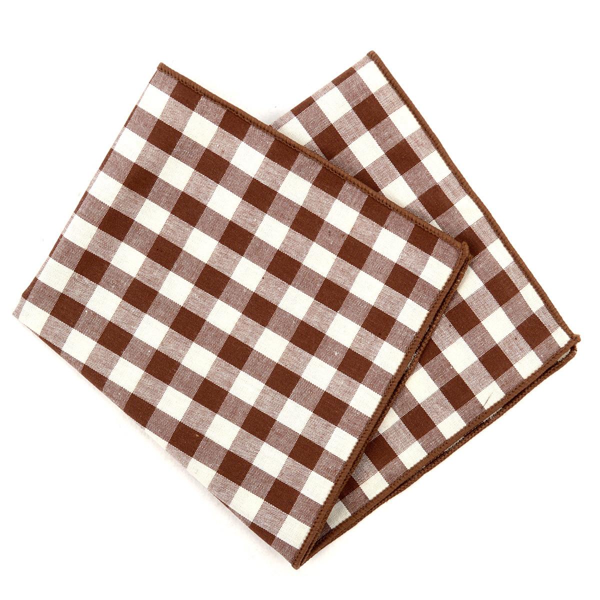 12pc Classic Plaid 100% Cotton Checked Pocket Square Handkerchiefs