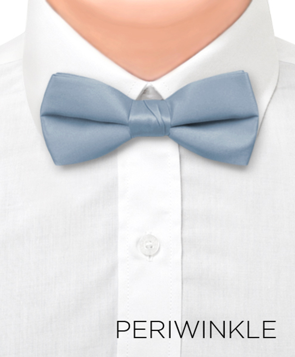 """Boy's 1.5"""" Poly Satin Banded Bow Ties BBT1301"""
