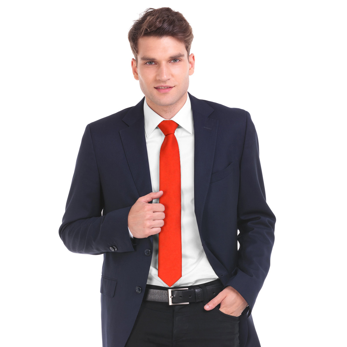 Poly Solid Satin Tie PSP1301-1