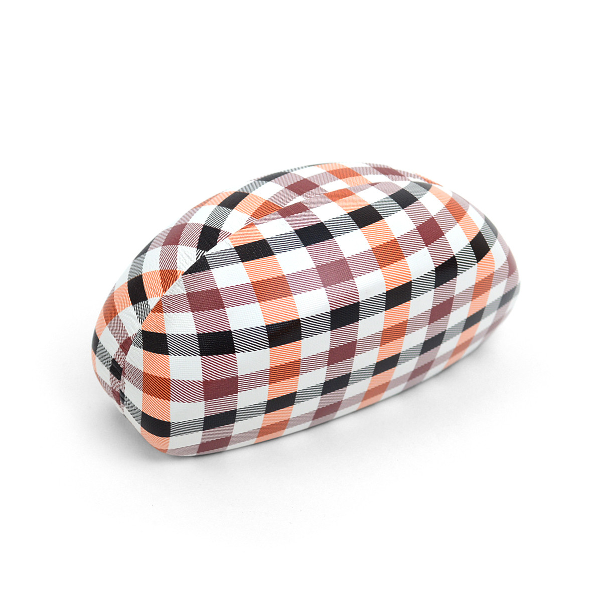12pc Traditional Hard Plastic Plaid Glasses Case BST919