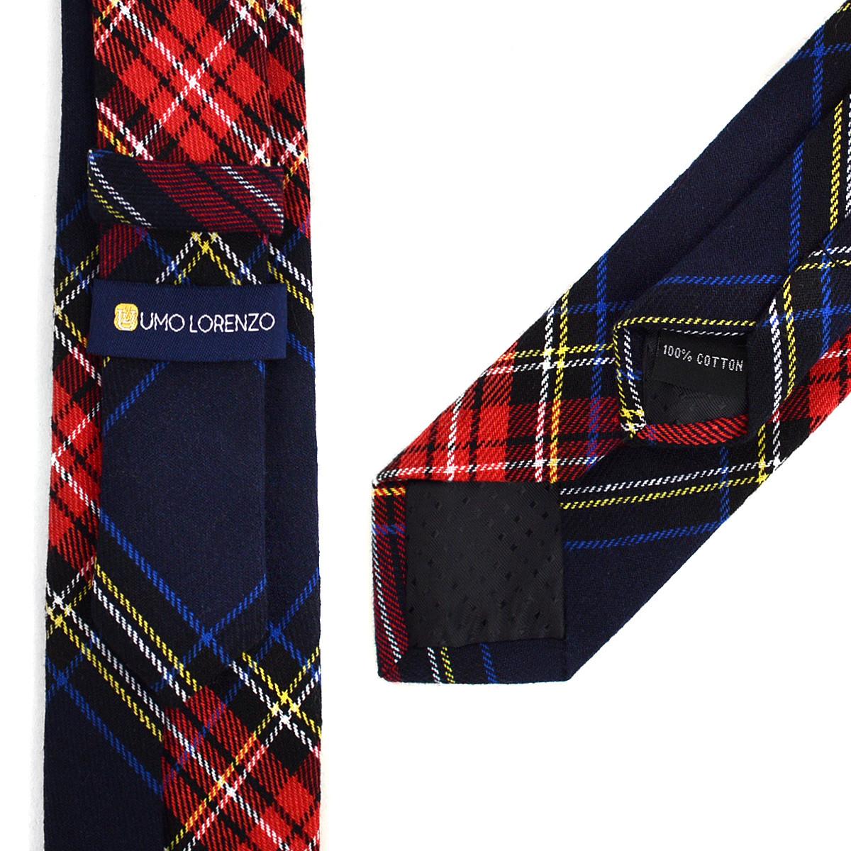 """Men's Plaid Flannel 2.25"""" Cotton Slim Tie - MPPW1640"""