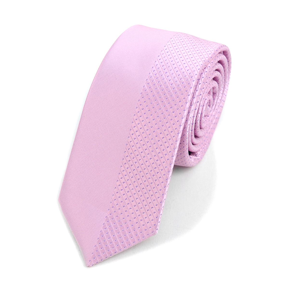 "Pink Microfiber Poly Woven 2.25"" Slim Panel Tie - MPPW1611-PK"