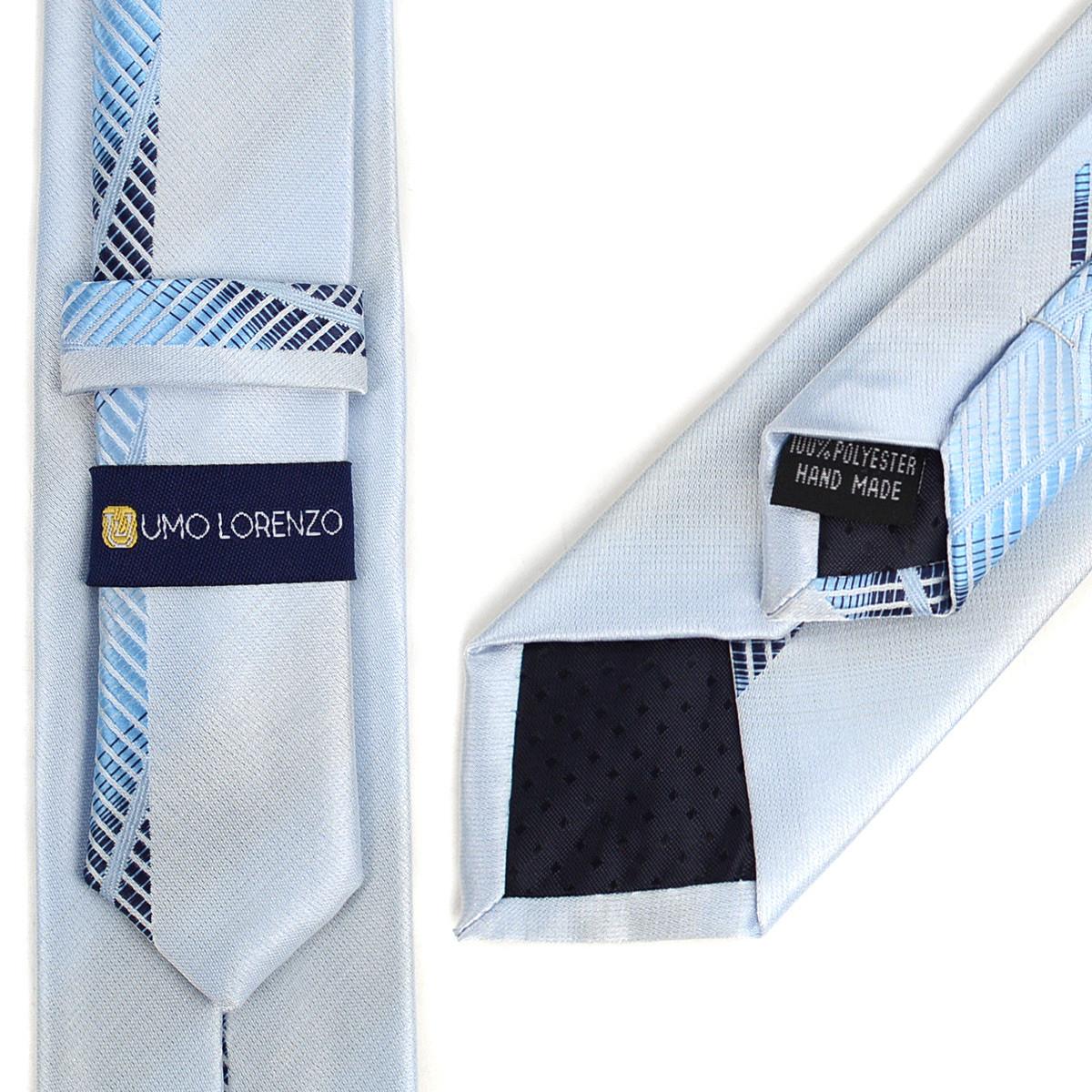 "Blue Microfiber Poly Woven 2.25"" Slim Panel Tie MPPW1616"