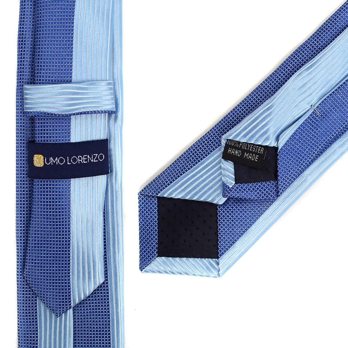 "Blue Microfiber Poly Woven 2.25"" Slim Panel Tie MPPW1624"