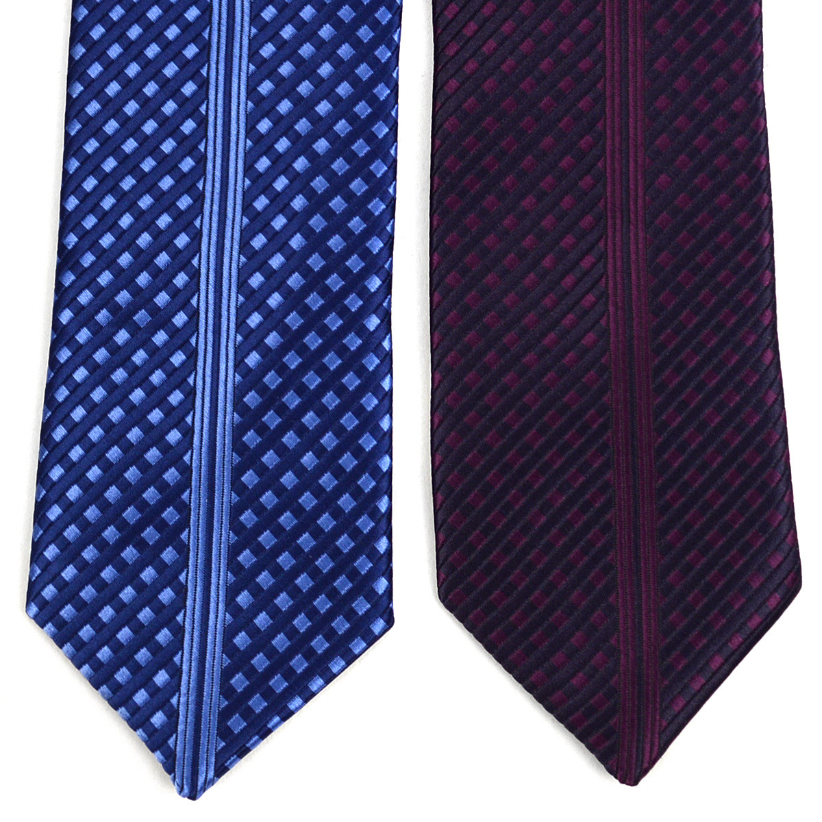 """Dotted Microfiber Poly Woven 2.25"""" Slim Panel Tie MPPW1613"""