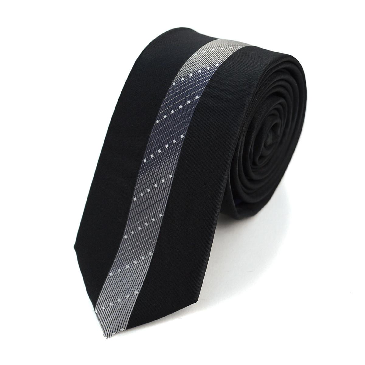 "Gradient Striped Microfiber Poly Woven 2.25"" Slim Panel Tie MPPW1619"