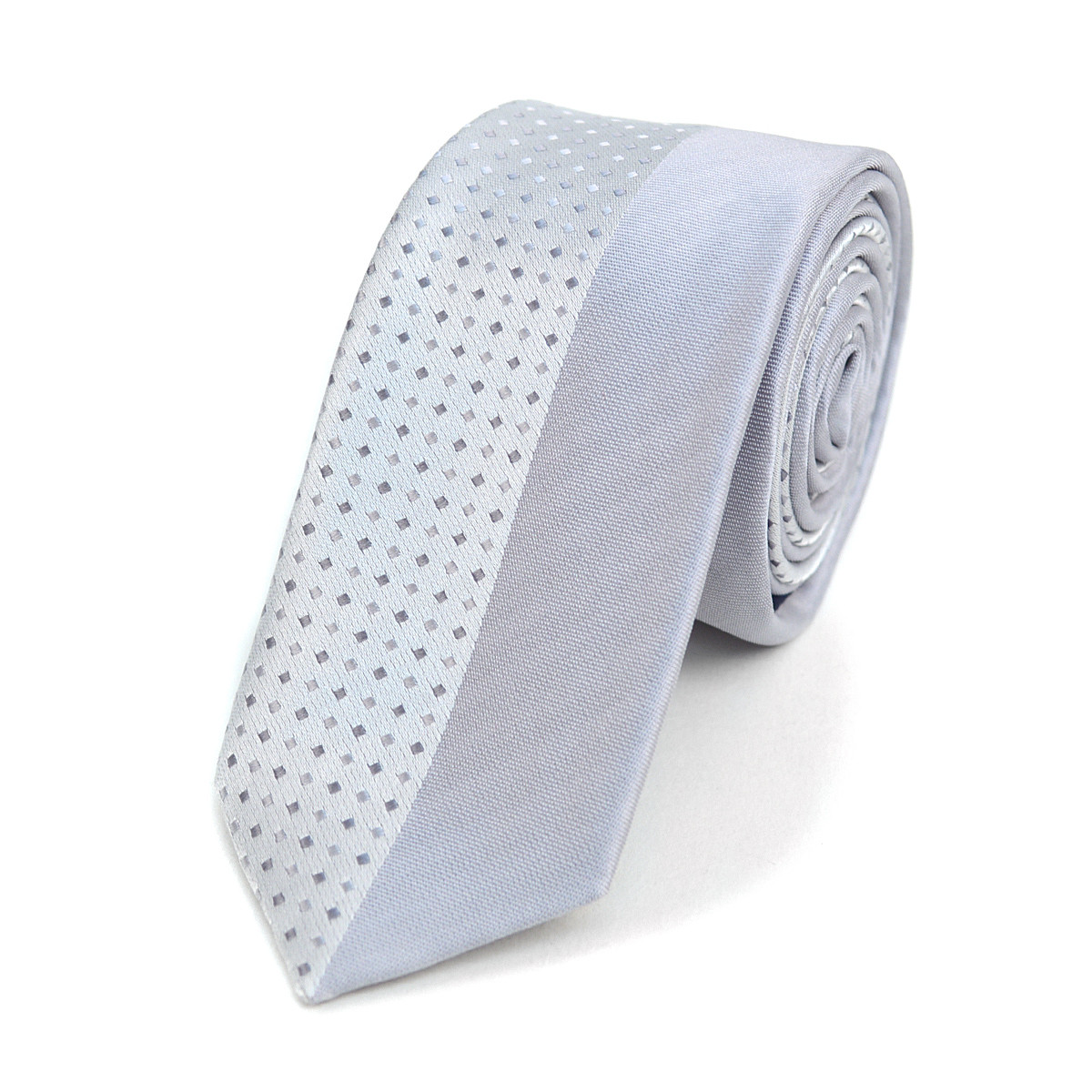 "Dotted Microfiber Poly Woven 2.25"" Slim Panel Tie MPPW1621"