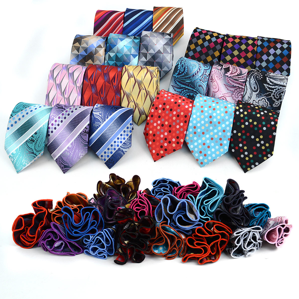 Stiped Tie & Matching Pocket Round Set MPWTH170626