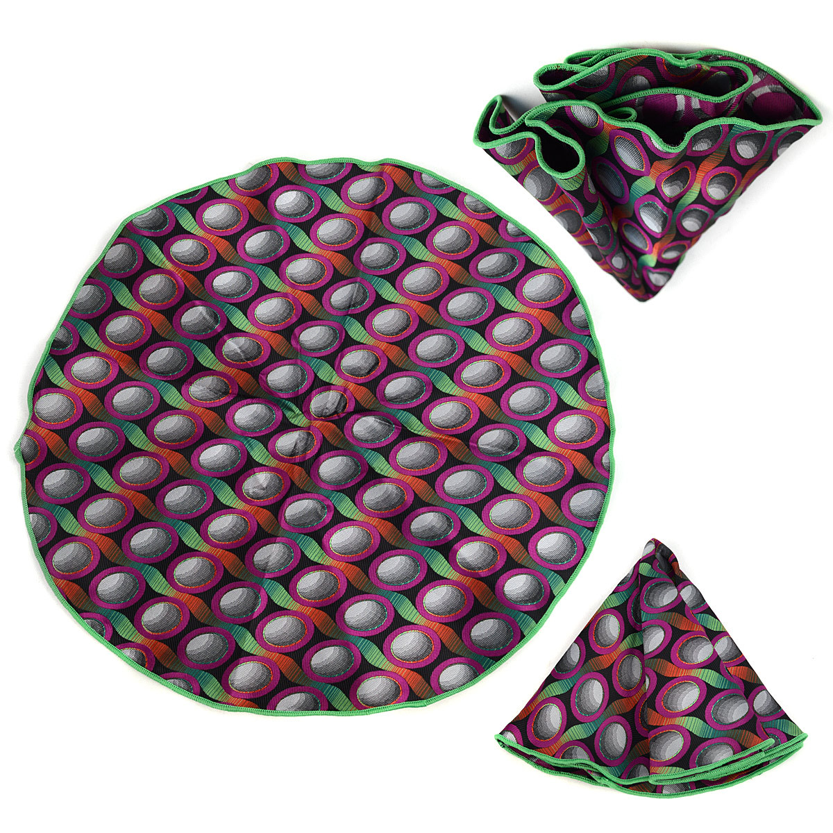 Circle Pattern Tie & Matching Pocket Round Set MPWTH170634