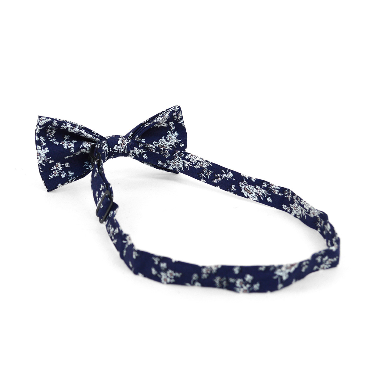3pc Floral Wedding Cotton Banded Bow Tie - NFCB17124