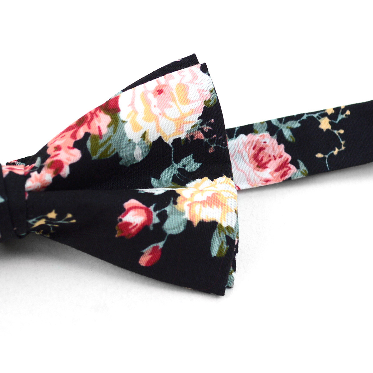 3pc Floral Wedding Cotton Banded Bow Tie - NFCB17127