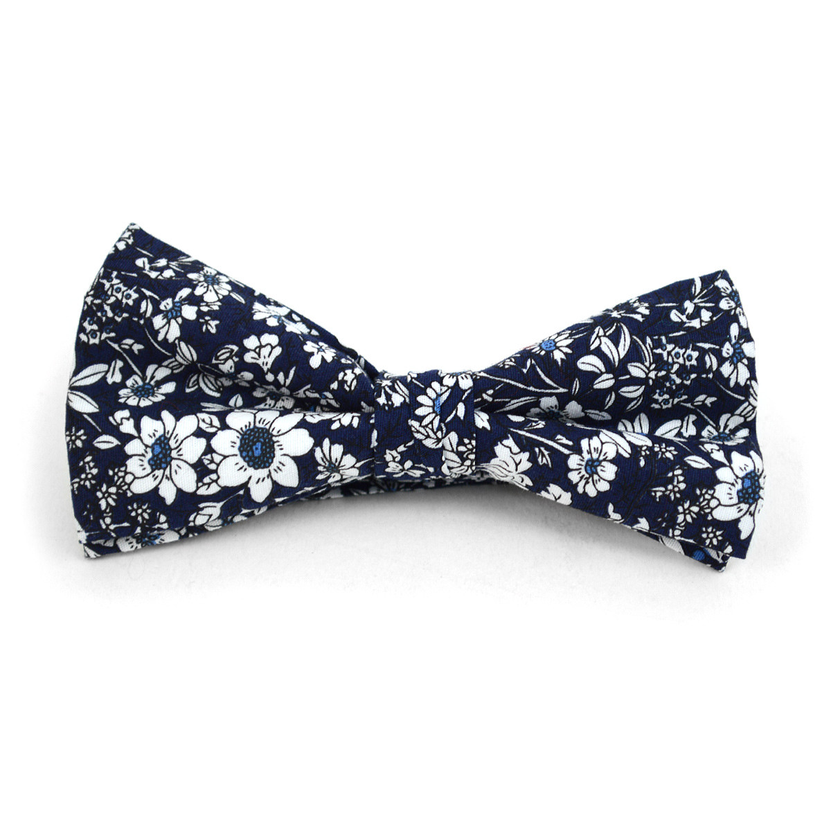 3pc Floral Wedding Cotton Banded Bow Tie - NFCB17137