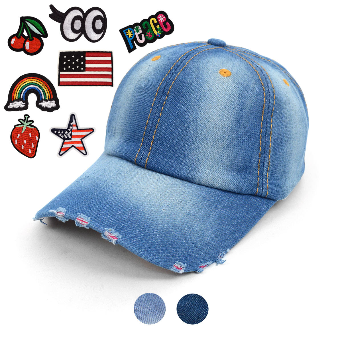 Blank or Patched Denim Baseball Cap JCAP