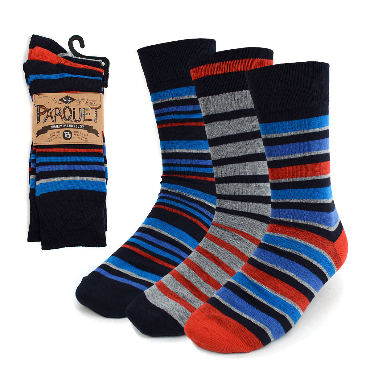 24-Packs (72 Pairs) Assorted Men's Casual Fancy Socks 3PKS/ASST2