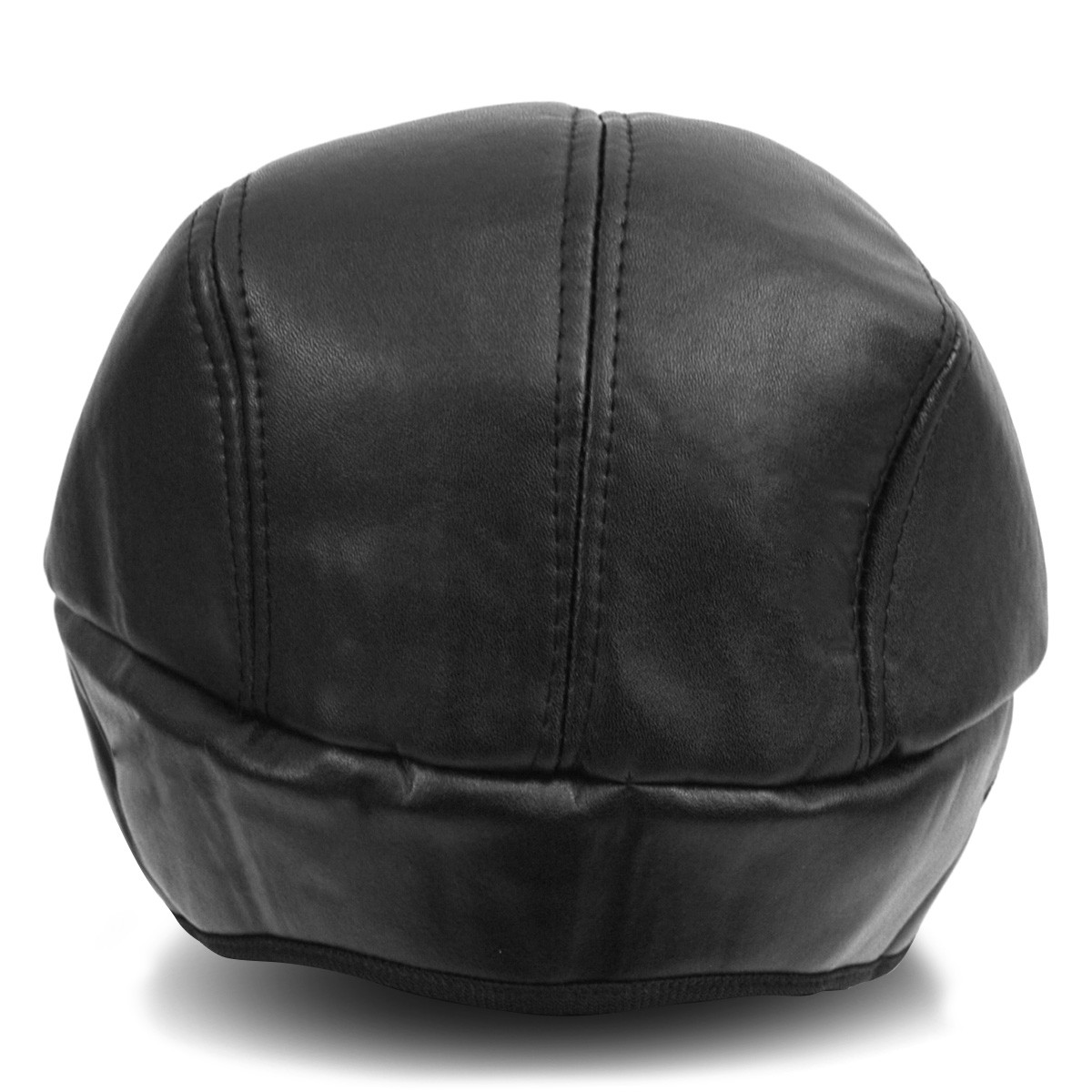 Fall/Winter Traditional Leather Ivy Hat with Ear Flaps  - H177306